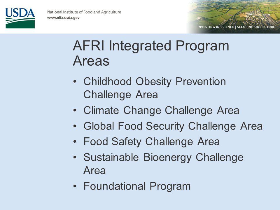 AFRI Integrated Program Areas