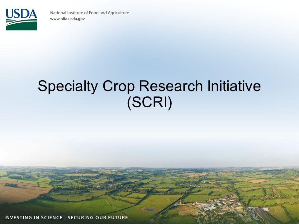 Specialty Crop Research Initiative (SCRI)