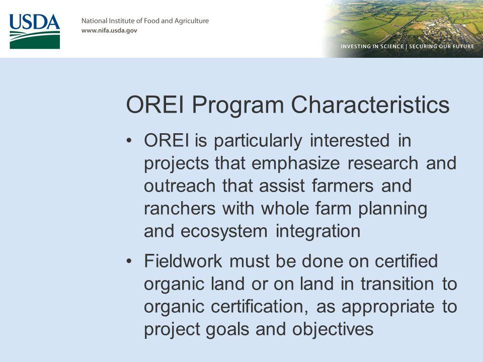 OREI Program Characteristics