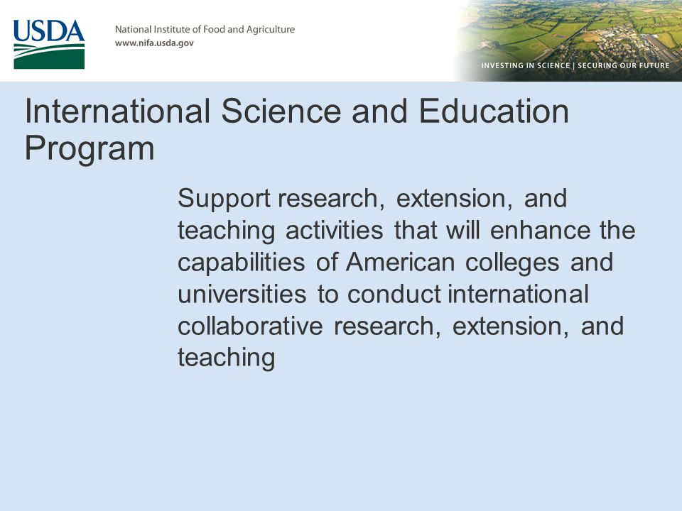 International Science and Education Program
