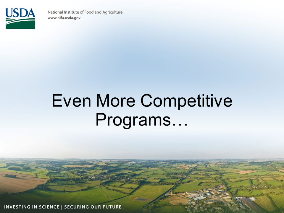 Even More Competitive Programs…