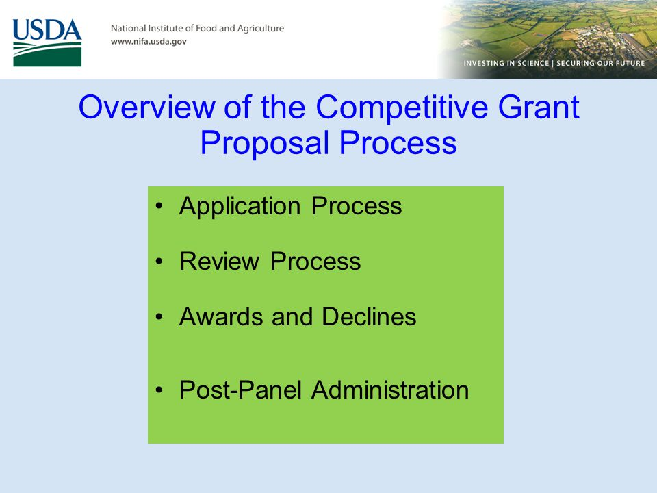 Overview of the Competitive Grant Proposal Process