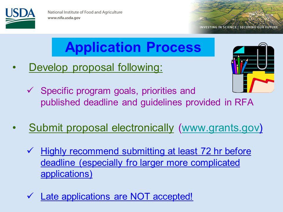 Application Process Develop proposal following: