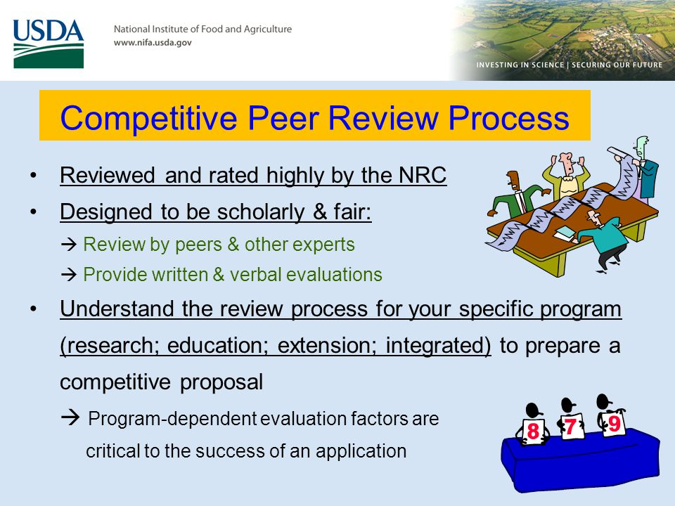 Competitive Peer Review Process