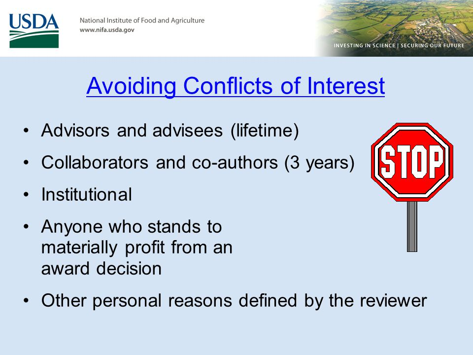 Avoiding Conflicts of Interest