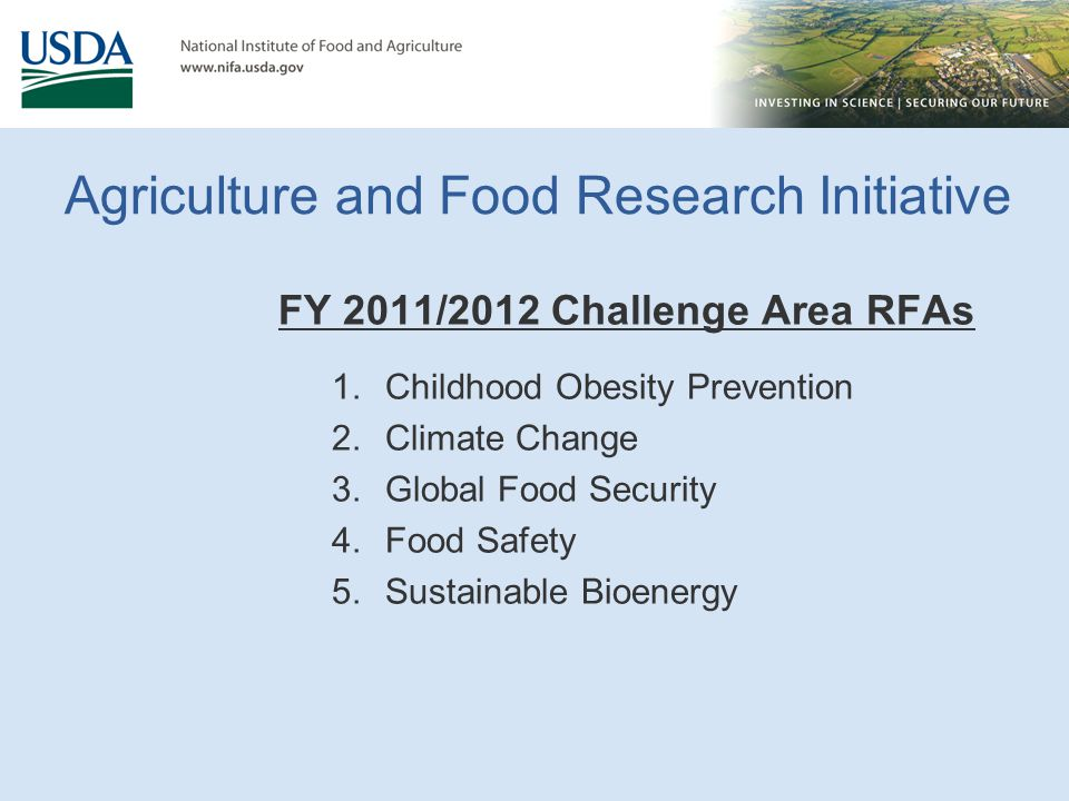Agriculture and Food Research Initiative