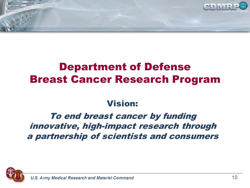 Department of Defense Breast Cancer Research Program