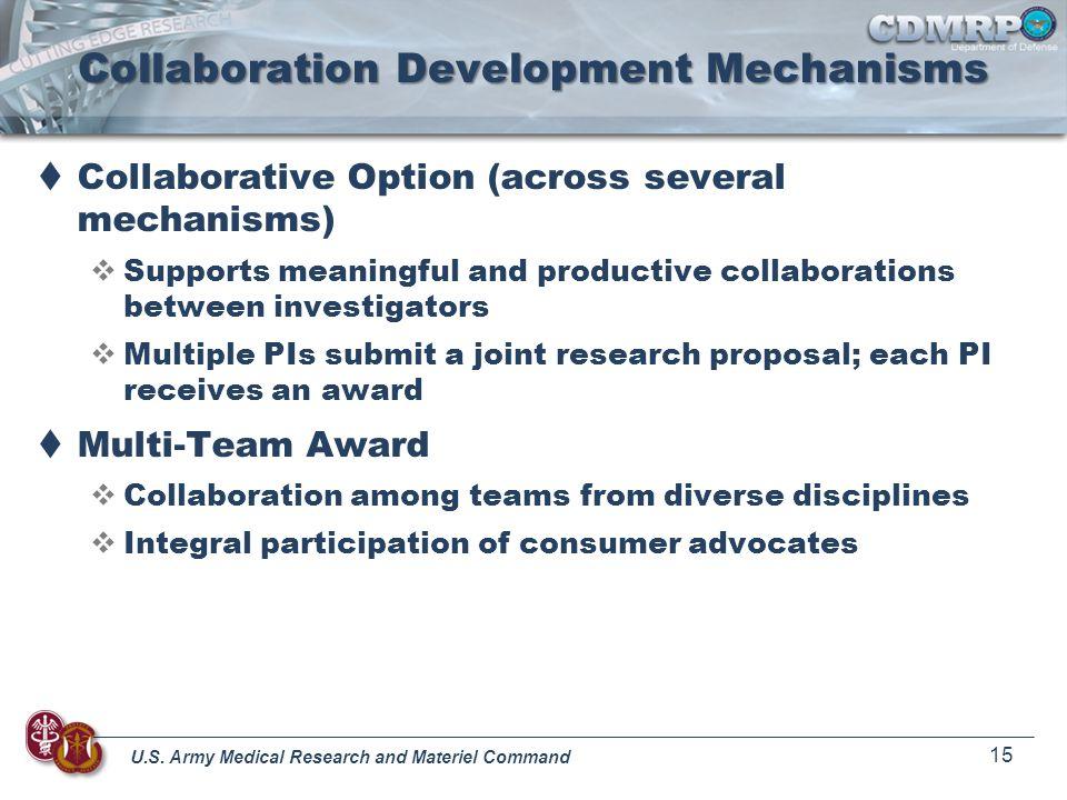 Collaboration Development Mechanisms