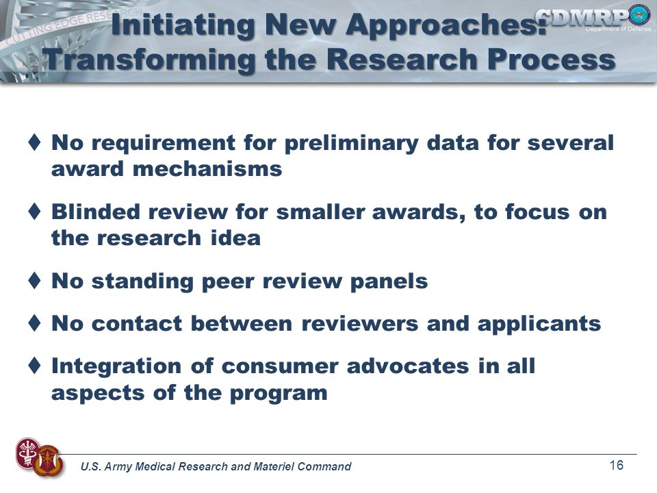 Initiating New Approaches: Transforming the Research Process