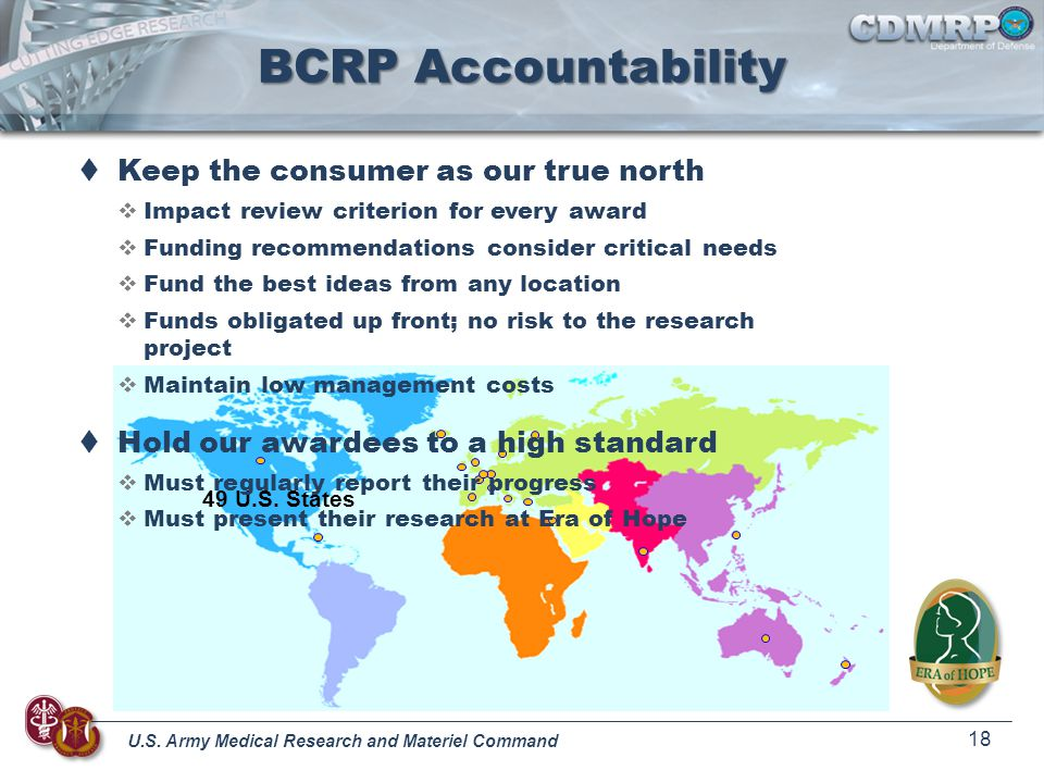 BCRP Accountability Keep the consumer as our true north
