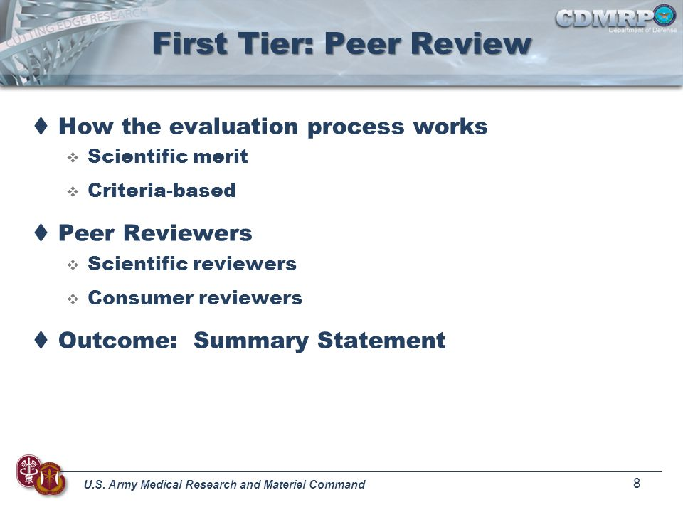 First Tier: Peer Review