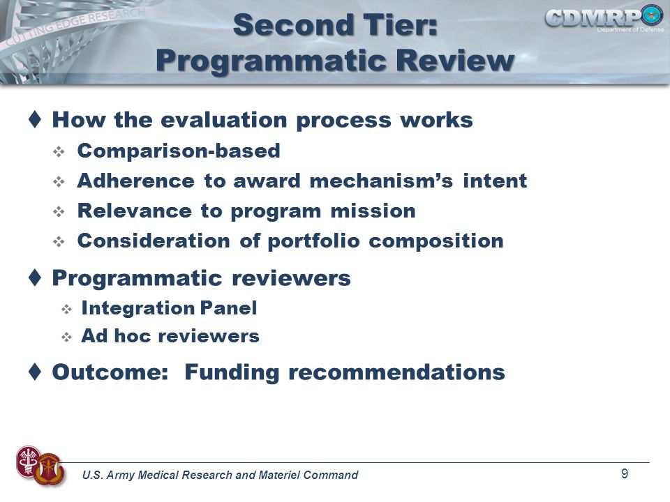 Second Tier: Programmatic Review