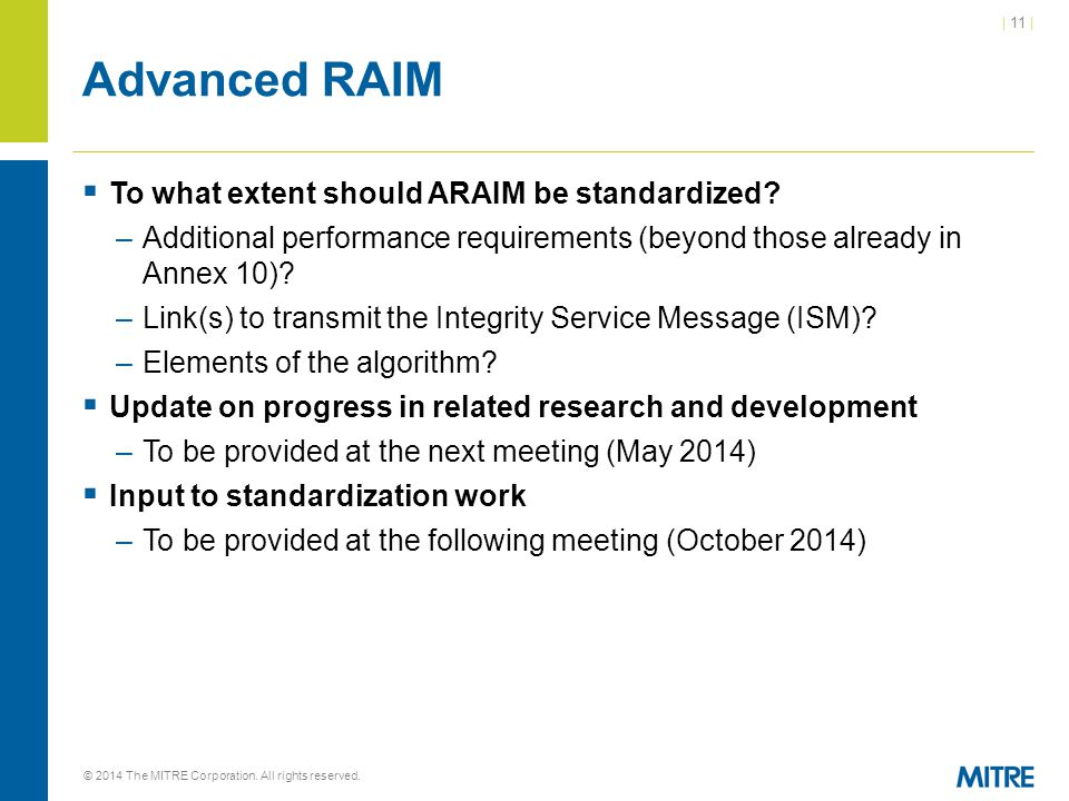 Advanced RAIM To what extent should ARAIM be standardized