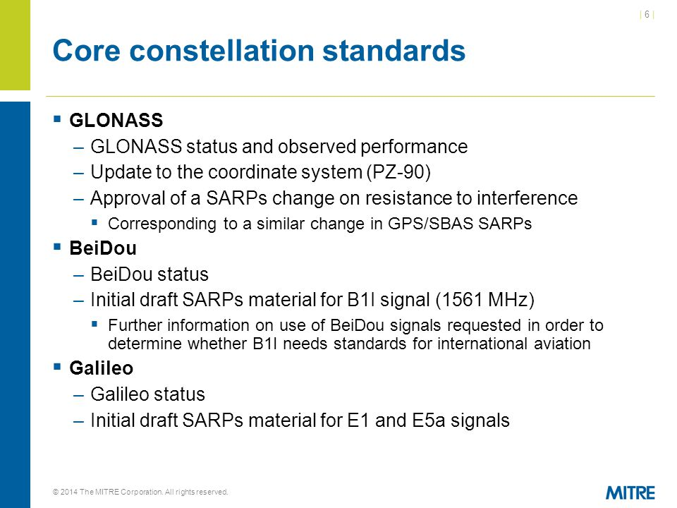 Core constellation standards