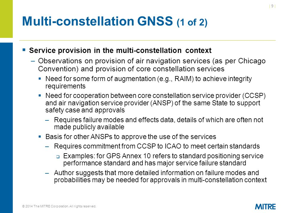 Multi-constellation GNSS (1 of 2)