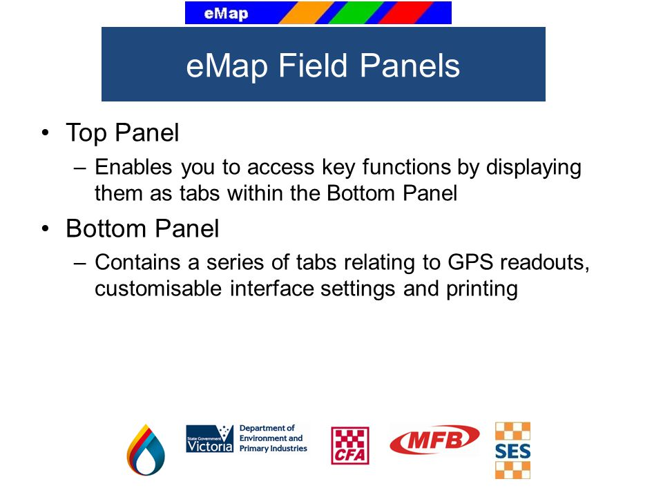 eMap Field Panels Top Panel Bottom Panel