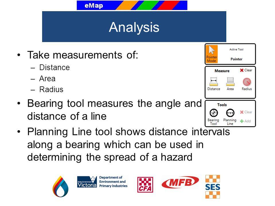 Analysis Take measurements of: