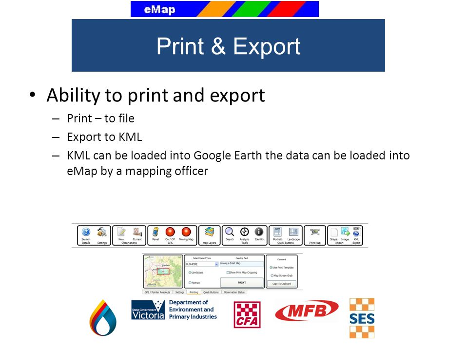 Print & Export Ability to print and export Print – to file