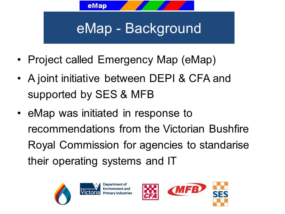 eMap - Background Project called Emergency Map (eMap)