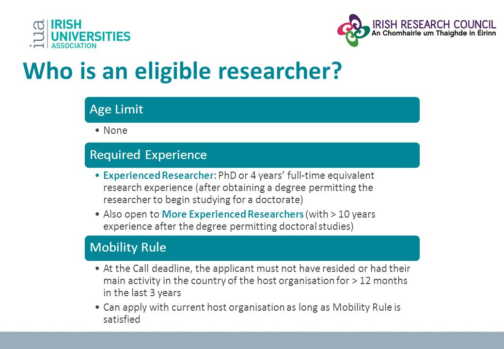 Who is an eligible researcher