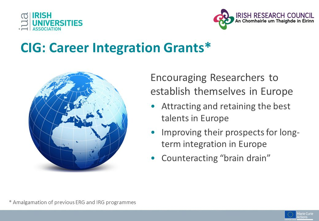 CIG: Career Integration Grants*