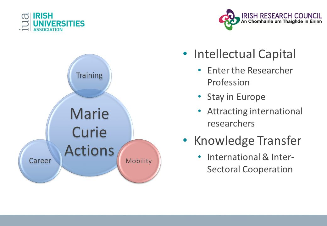 Marie Curie Actions Intellectual Capital Knowledge Transfer