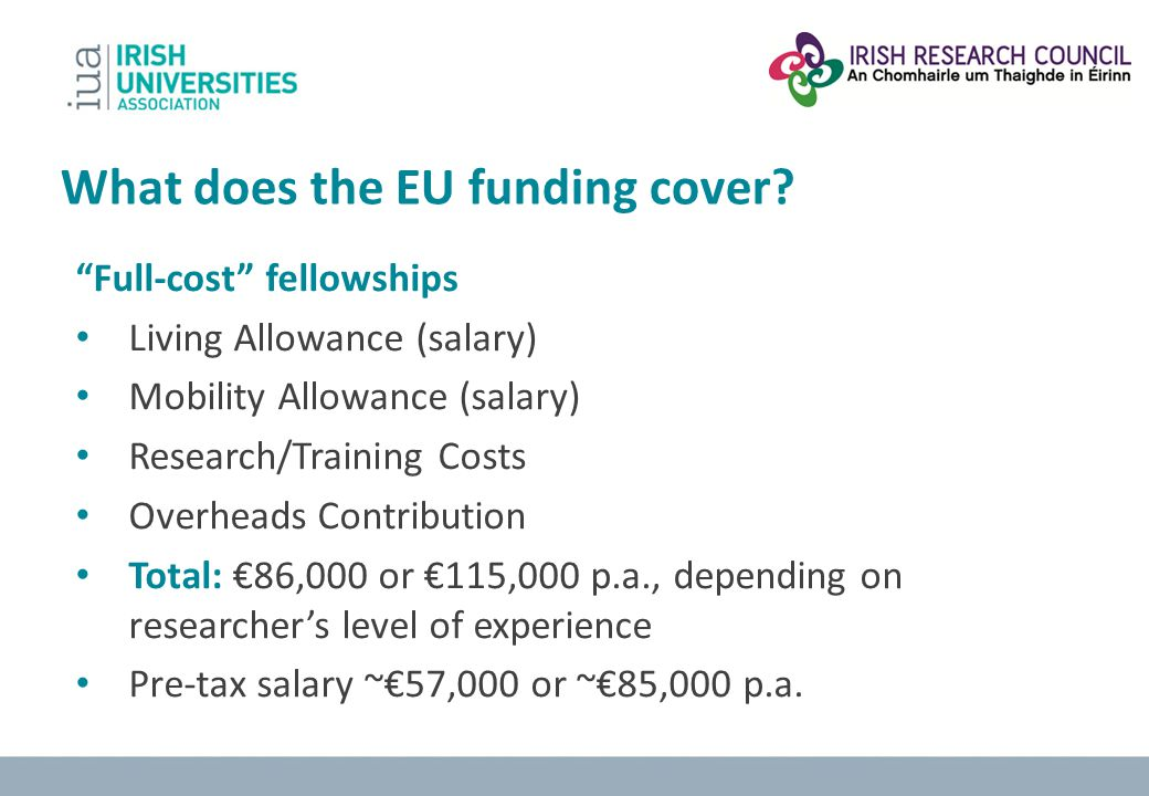 What does the EU funding cover