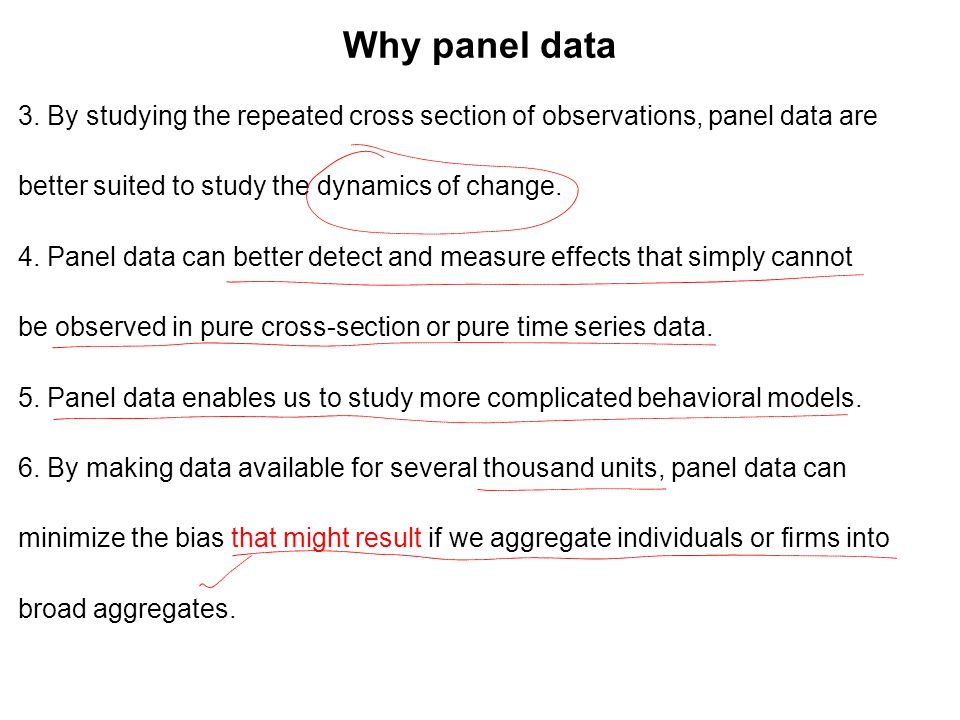 Why panel data