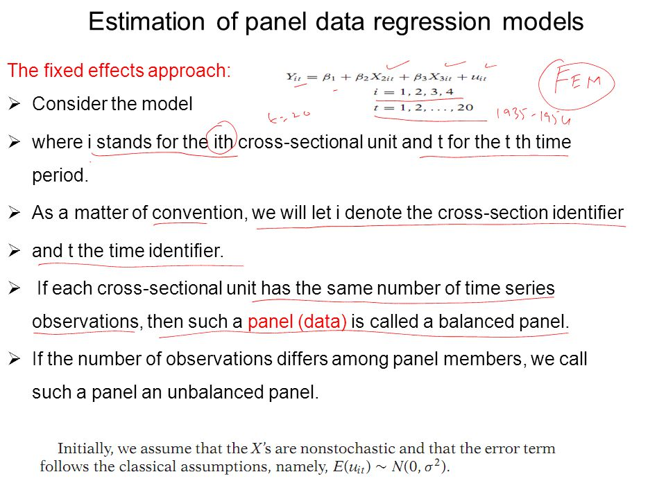 Estimation of panel data regression models