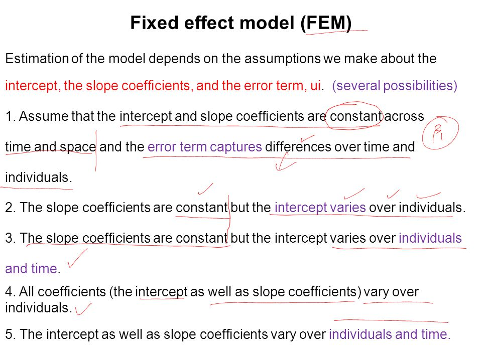 Fixed effect model (FEM)