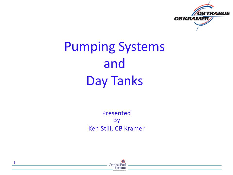 Pumping Systems and Day Tanks