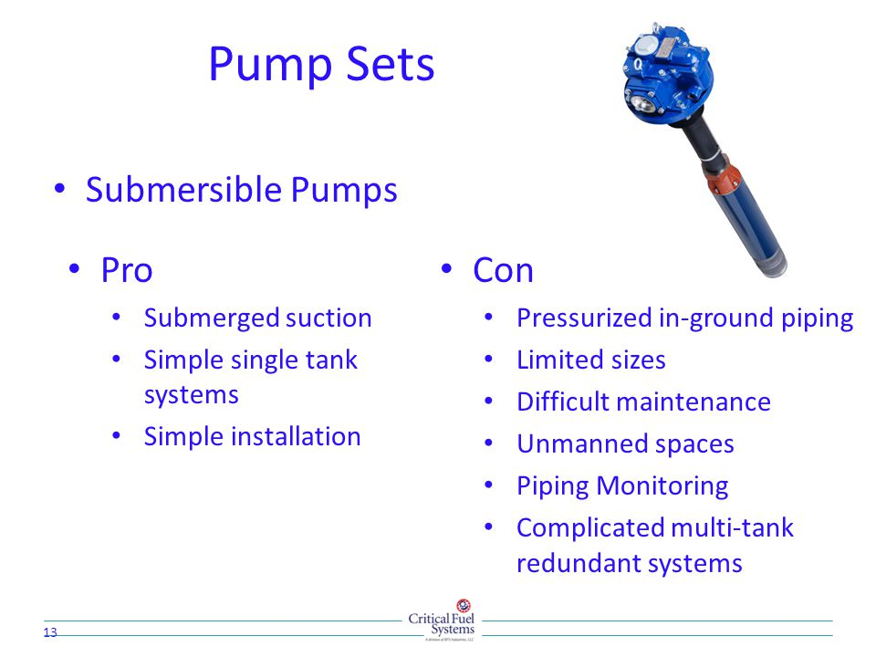 Pump Sets Submersible Pumps Pro Con Submerged suction
