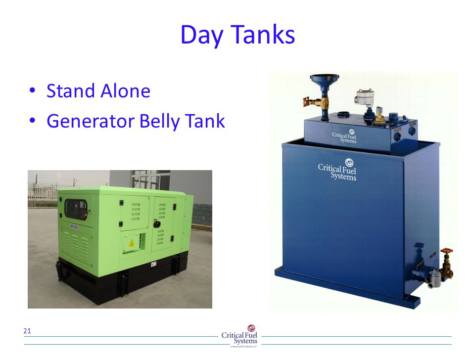 Day Tanks Stand Alone Generator Belly Tank