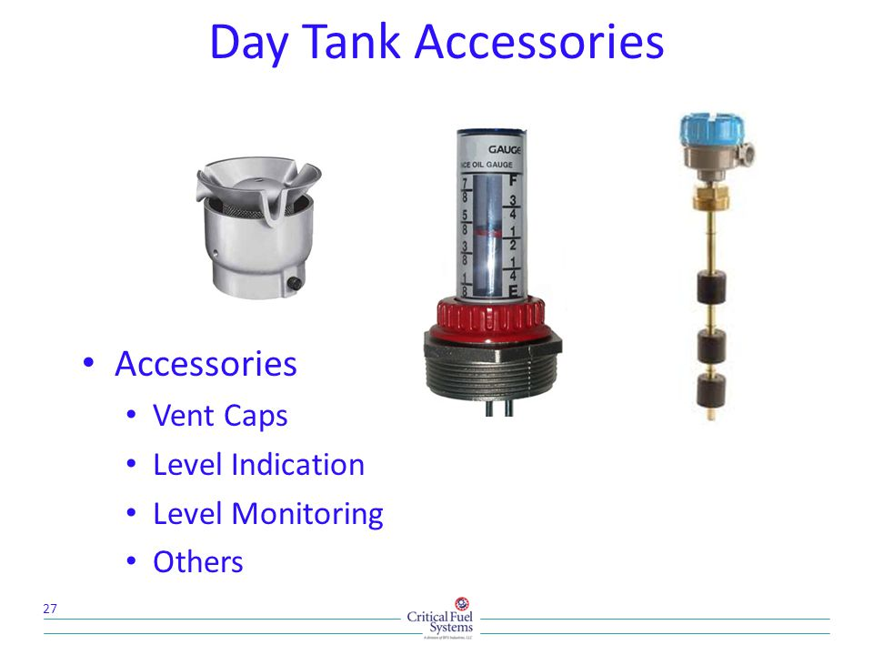 Day Tank Accessories Accessories Vent Caps Level Indication