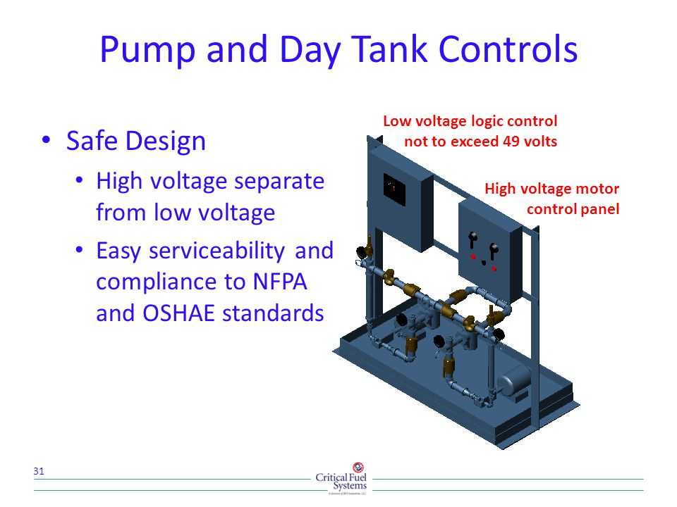 Pump and Day Tank Controls