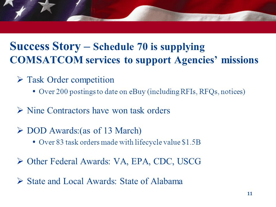 Success Story – Schedule 70 is supplying COMSATCOM services to support Agencies' missions