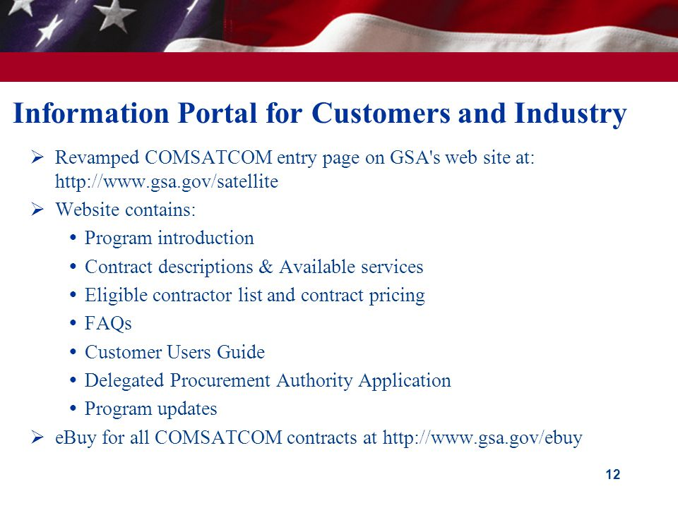 Information Portal for Customers and Industry