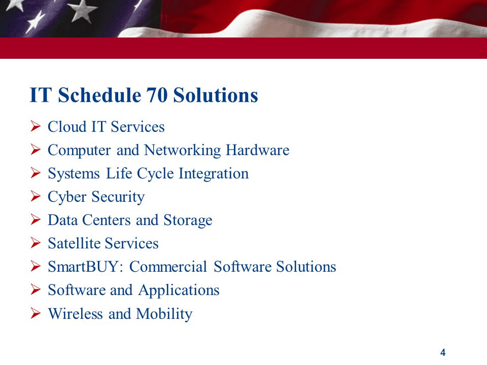 IT Schedule 70 Solutions Cloud IT Services