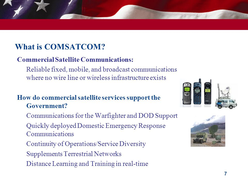What is COMSATCOM Commercial Satellite Communications: