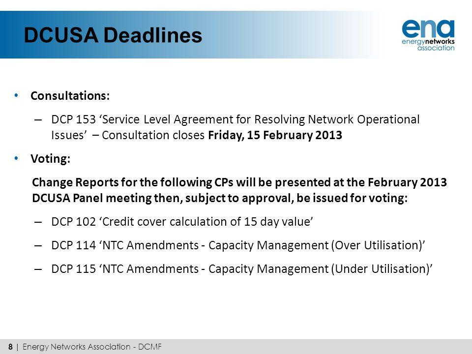 DCUSA Deadlines Consultations: