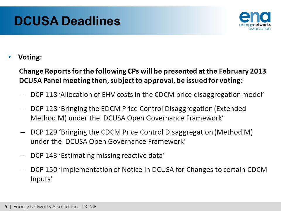 DCUSA Deadlines Voting: