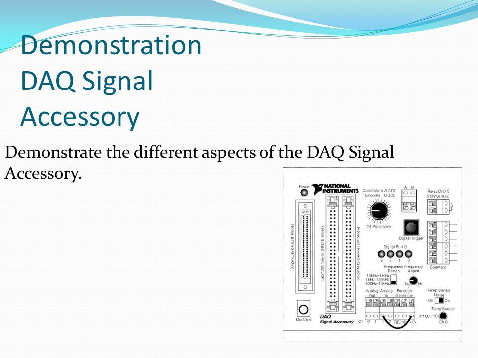 Demonstration DAQ Signal Accessory