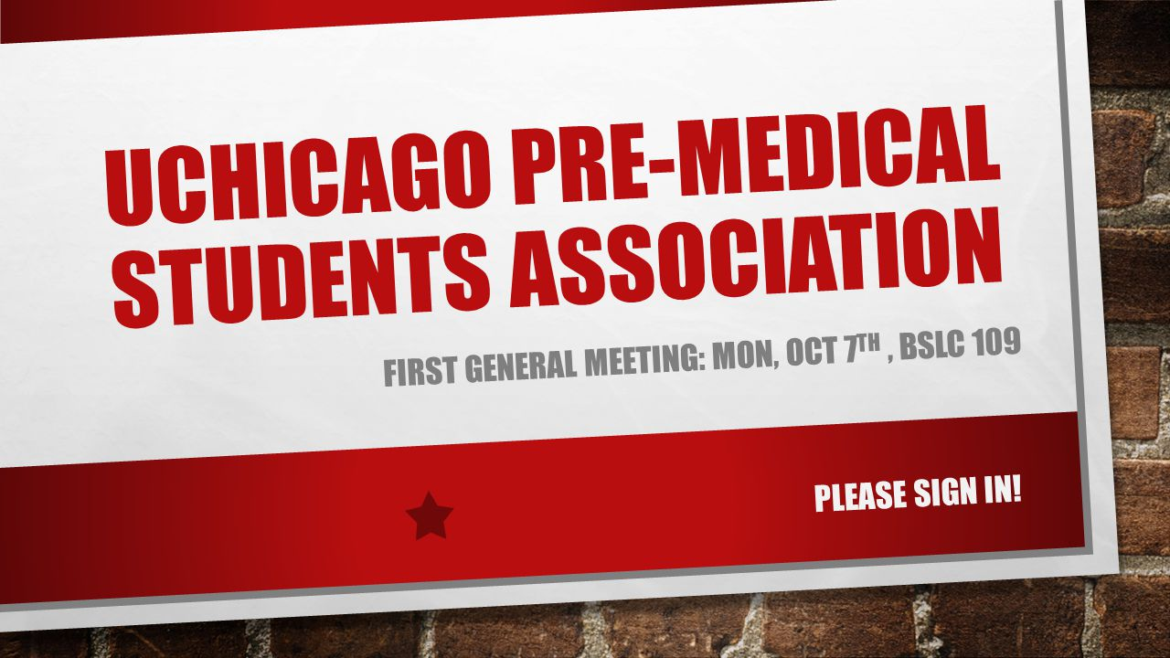 Uchicago Pre-Medical Students Association