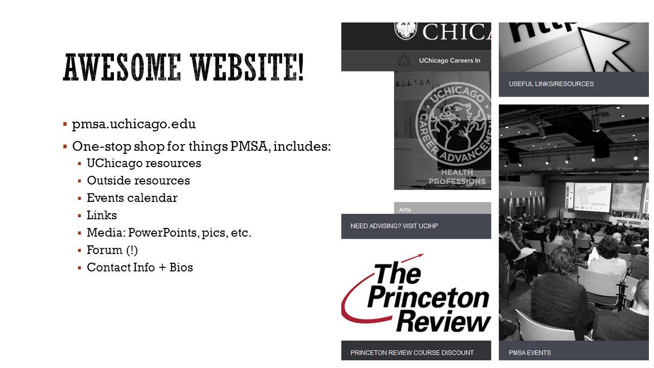 Awesome Website! pmsa.uchicago.edu