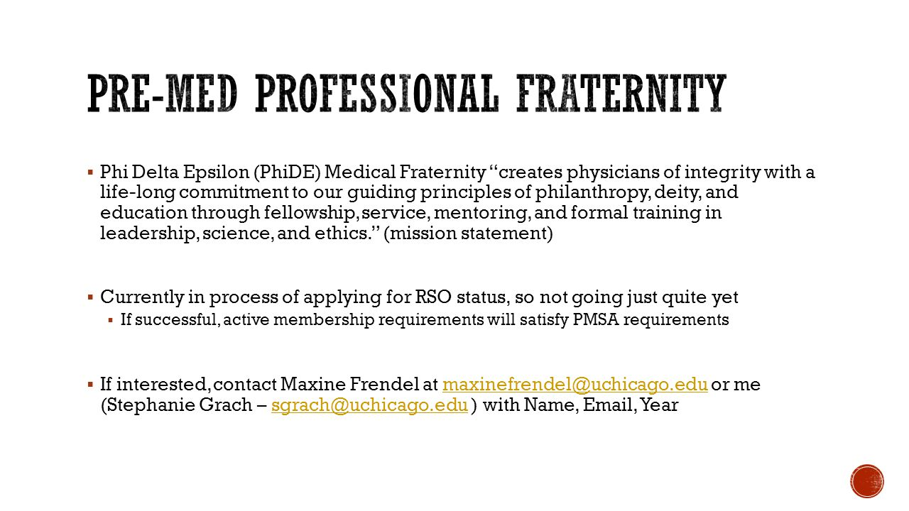 Pre-Med Professional Fraternity