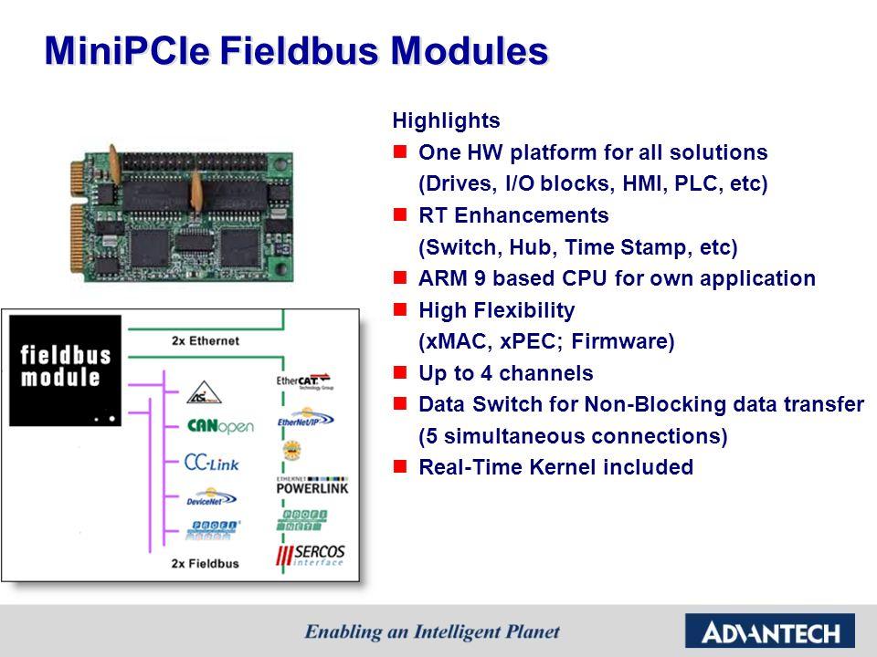 MiniPCIe Fieldbus Modules
