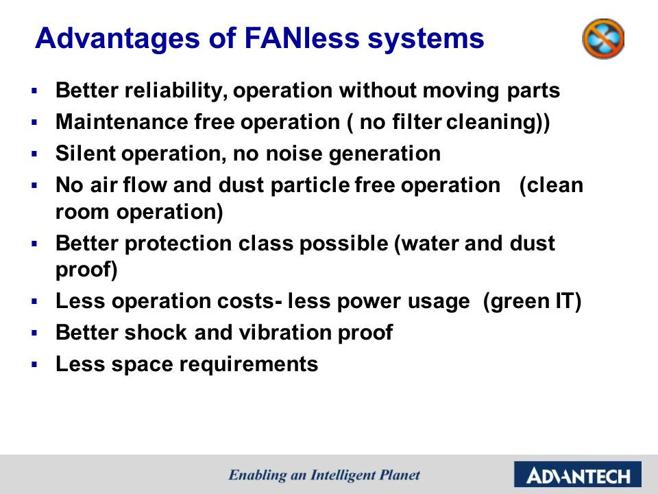 Advantages of FANless systems