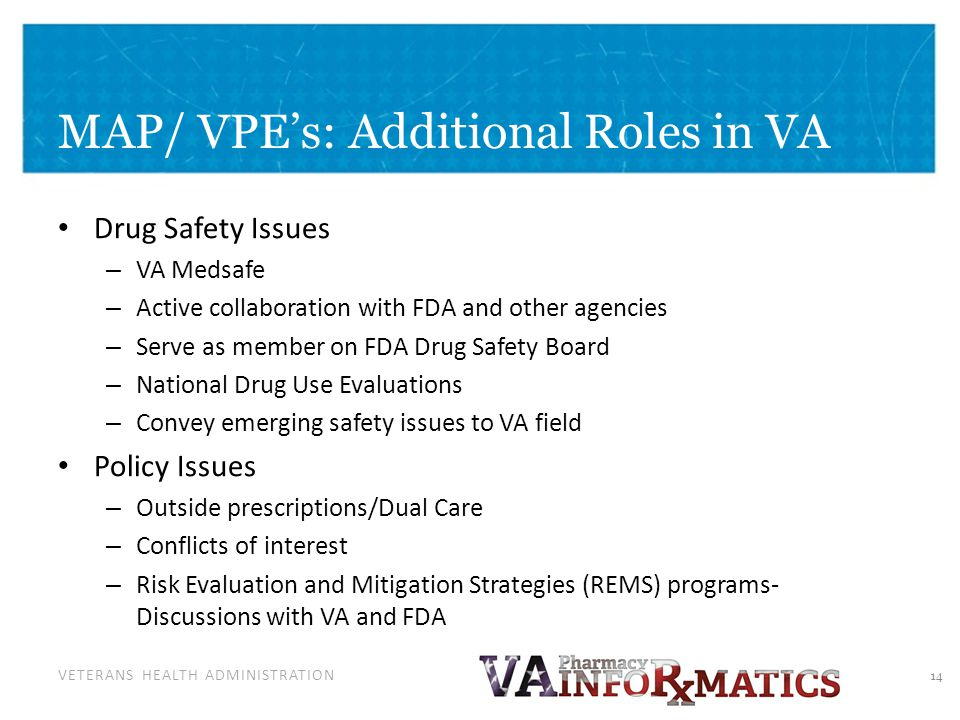 Safety Issues and VA Formulary