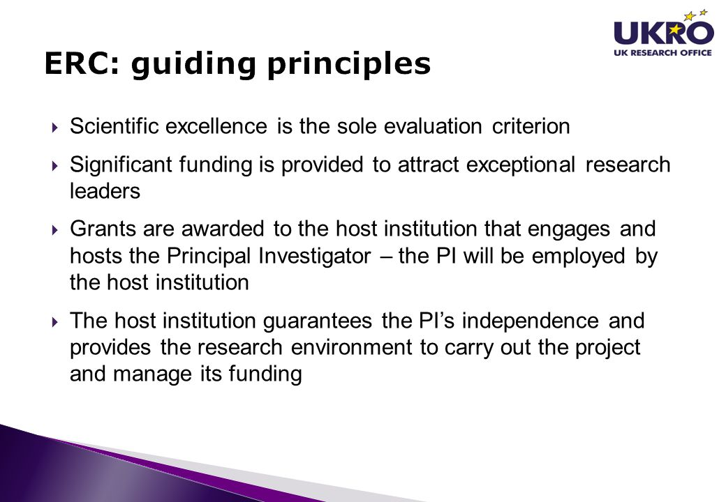 ERC: guiding principles