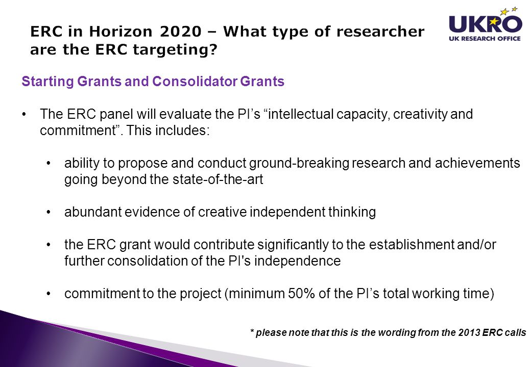 ERC in Horizon 2020 – What type of researcher are the ERC targeting